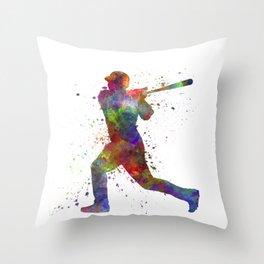 Baseball player hitting a ball 05 Throw Pillow