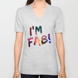 I'm Fab! Unisex V-Neck