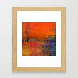 Orange Study #1 Digital Painting Framed Art Print