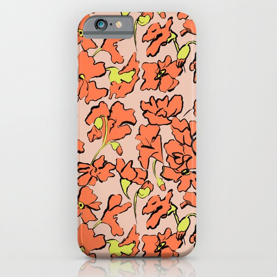 Red Floral iPhone & iPod Case