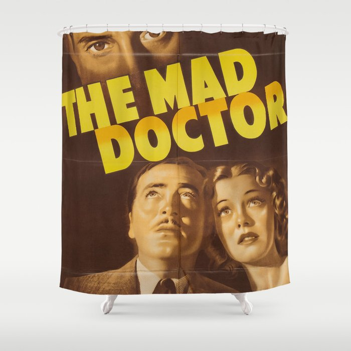 The Mad Doctor Vintage Horror Movie Poster Shower Curtain