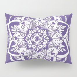 Ultraviolet Flower Mandala Pillow Sham