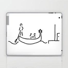 gondolier in gondola in Venice Laptop & iPad Skin