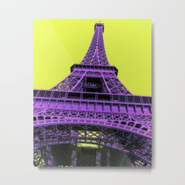 Eiffel Tower : Purple Jazz Metal Print