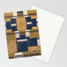 Blue Gold Stationery Cards