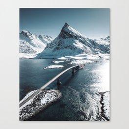 lofoten bridge Canvas Print