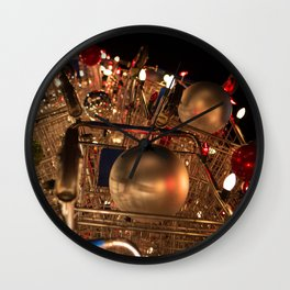 CHRISTMAS IN HOLLYWOOD - day six color Wall Clock