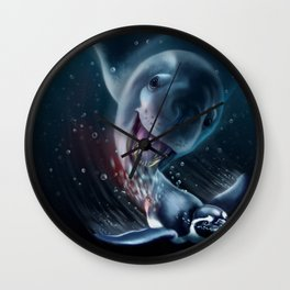 Seal vs Penguin Wall Clock