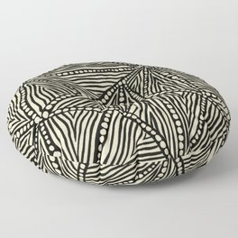 Black and Ivory Triangles Floor Pillow