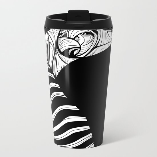 Thylacine (Tasmanian Tiger) Metal Travel Mug