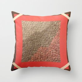 Red Chaos Throw Pillow