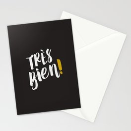 Très Bien on Black Stationery Cards