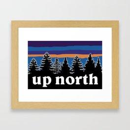 up north, blue & purple Framed Art Print