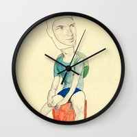 finn Wall Clocks featuring Finn by withapencilinhand