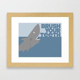 Kids' Bathroom - Brush Your Teeth Framed Art Print