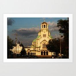 Alexander Nevsky Cathedral Sofia, Bulgaria Art Print