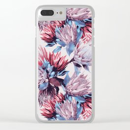 King proteas bloom Clear iPhone Case