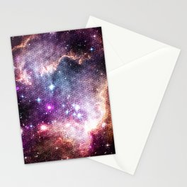 Sacred Nebula Flower Of Life Stationery Cards