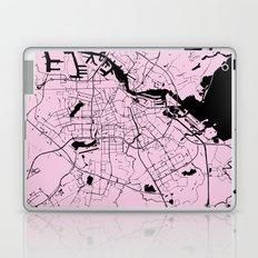 Amsterdam Pink on Black Street Map Laptop & iPad Skin