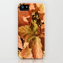 Digital Illustration of Colourful and Vibrant Autumn Foliage on a Sunny Day iPhone Case