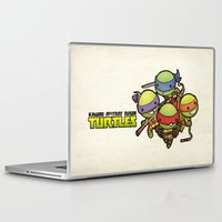 ninja turtles Laptop & iPad Skins featuring Kawaii Mutant Ninja Turtles by Squid&Pig