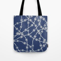 Trapped Navy Tote Bag