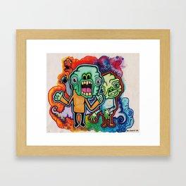 Greenmen. Framed Art Print