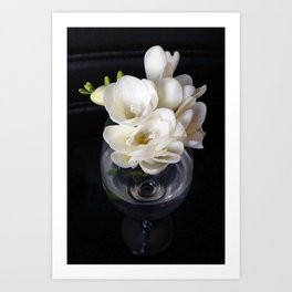 freesia night cup Art Print