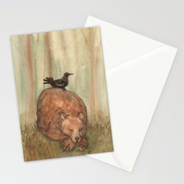 Bear and Crow Stationery Cards
