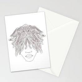 Free form locs Stationery Cards