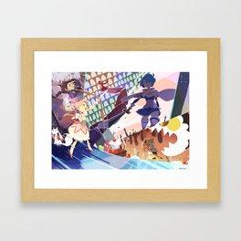 mahou shoujo madoka Framed Art Print