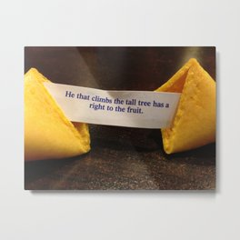 Fortune Cookie - Fruit from the Tall Trees Metal Print