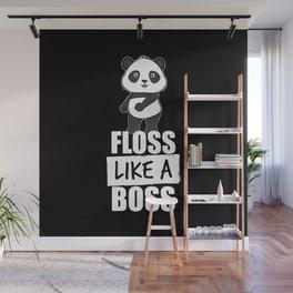 Panda Floss Like a Boss Wall Mural