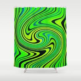 Lemon Lime Groove Watercolor Shower Curtain
