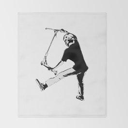 Deck Grabbing - Stunt Scooter Trick Throw Blanket