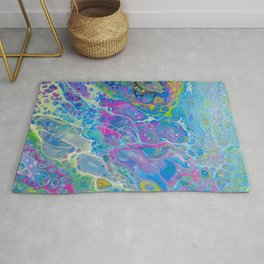 Acrylic Pour - Rainbow Paddle Pop Rug