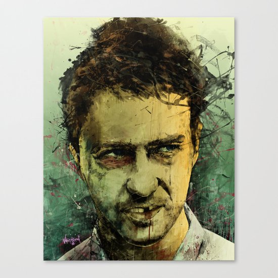 Schizo - Edward Norton Canvas Print