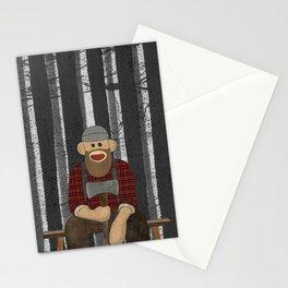 Sockmonkey Lumberjack Stationery Cards