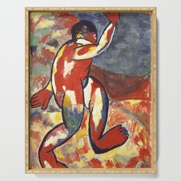 Bather by Kazimir Malevich Serving Tray