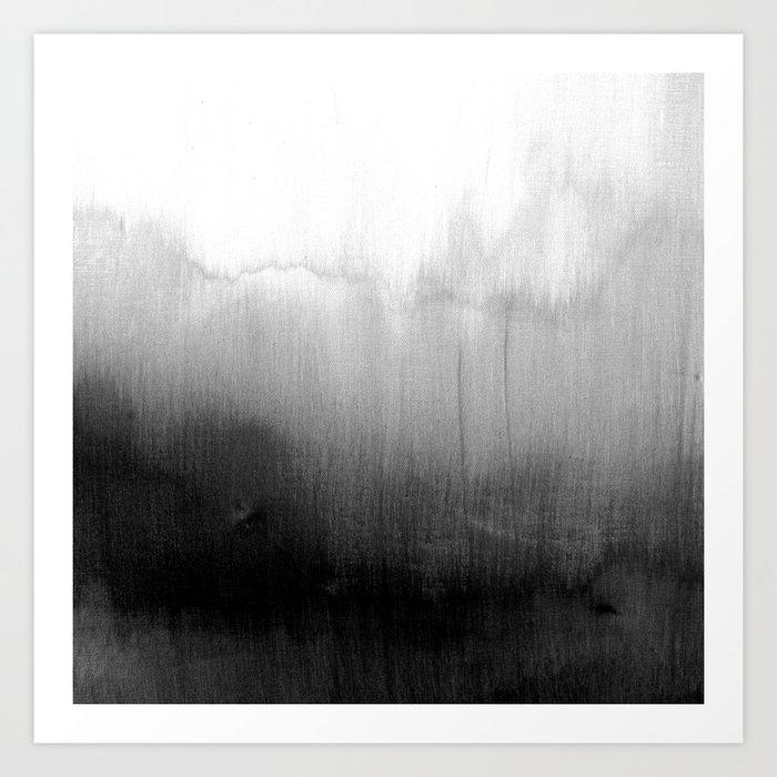 Modern Black and White Watercolor Gradient Kunstdrucke