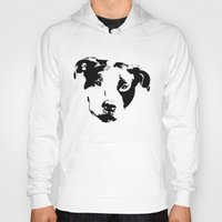pit bull Hoodies featuring Pit Bull by MIX INX