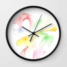170928 Imaginary Leaves 4 Wall Clock