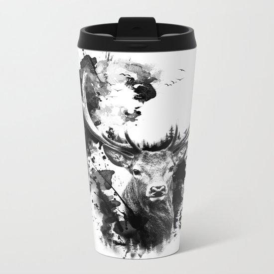 Once upon a Stag Metal Travel Mug