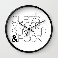 joy division Wall Clocks featuring JOY DIVISION by Louis Loizou