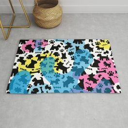 Crazy Dogs Pattern Rug