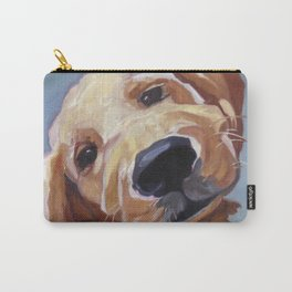 Golden Retriever Puppy Original Oil Painting Carry-All Pouch