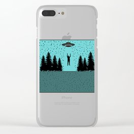 Extraterrestial Alien Tshirt Design Clear iPhone Case