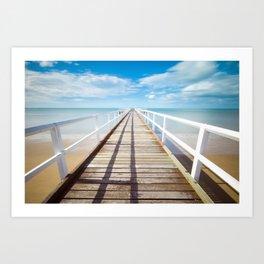 Pier sky 4 Art Print