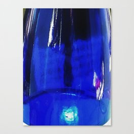 Blue Bottle Canvas Print