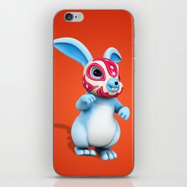 Lucha Rabbit-Blue Brother iPhone Skin